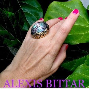 ALEXIS BITTAR Swarovski crystal cocktail ring 7